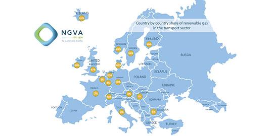 biometano trasporti in Europa